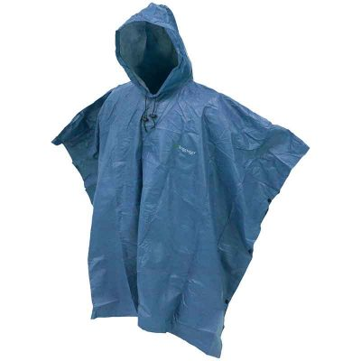 Full View of Blue Poncho