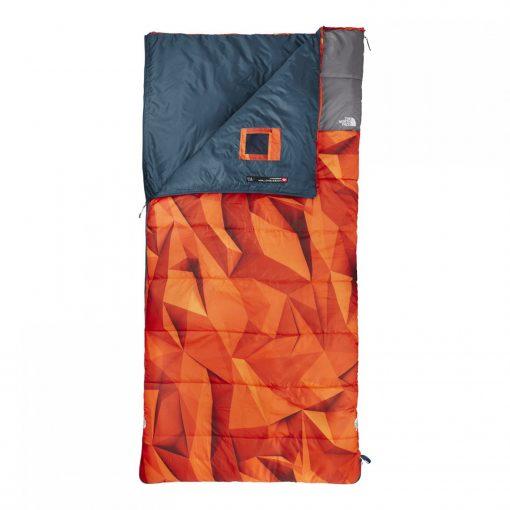 Rectangle bag, orange triangle pattern