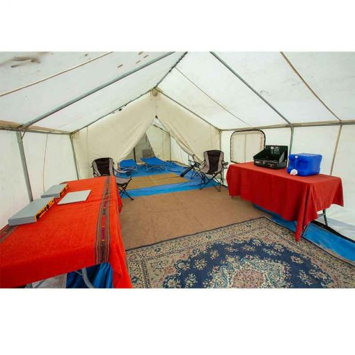 Wall Tent interior Furnished View