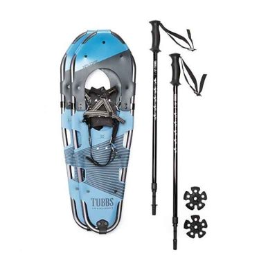 Snow Shoes with poles set view