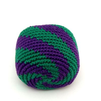 Purple green swirl hacky sack