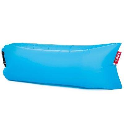 Aqua blue air lounger