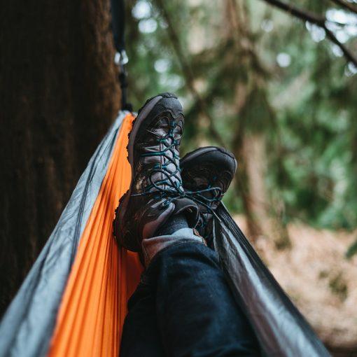 man in hammock