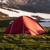 tent in a valley