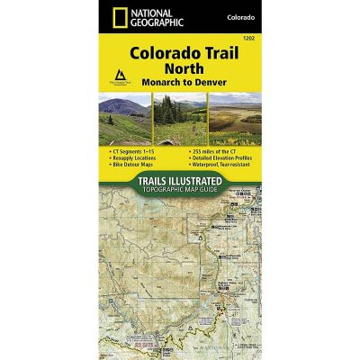 National Geographic Colorado Trail North Map 1202