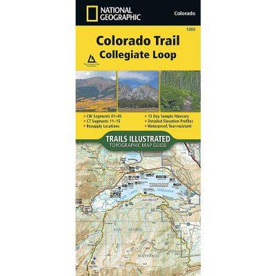 National Geographic Colorado Trail Collegiate Loop 1203 Map