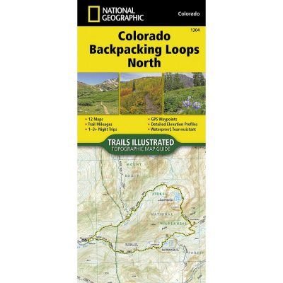 National Geographic Colorado Backpacking Loops North Map 1304