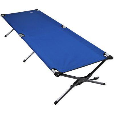 blue foldable cot