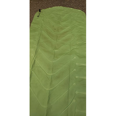 static V inflatable sleeping pad