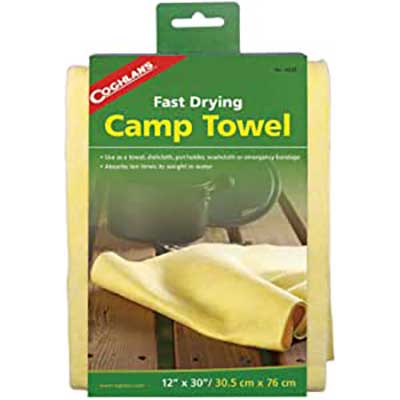 quick dry yellow camp towel