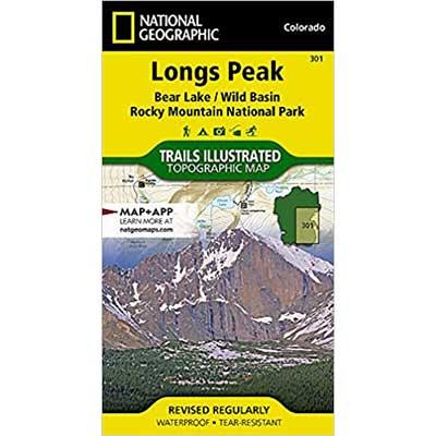 Longs Peak Map