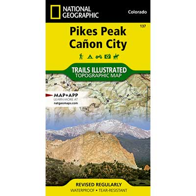 Map of Pikes Peak and canon city